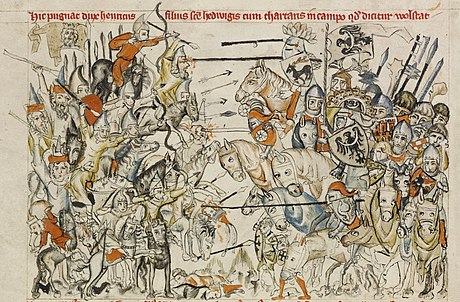 Battle of Legnica (1241) during the Mongol invasion of Silesia Legnica.JPG