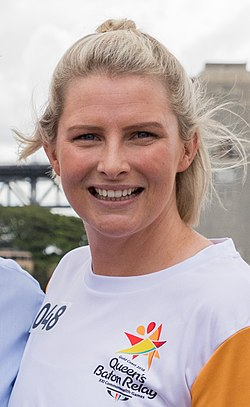 Leisel Jones at the Queen's Baton Relay, Sydney, Australia, 2018-02-03.jpg