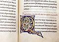 Leonardo bruni, traduzione del critone di platone, firenze 1427 ca. (bml,pluteo 76.57) 02 iniziale miniata Q.jpg