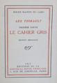 Les Thibault - Le cahier gris, édition originale.png