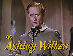 Ashley Wilkes - Image: Leslie Howard as Ashley Wilkes in Gone With the Wind trailer