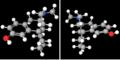 Levorphanol and dextrorphan.png