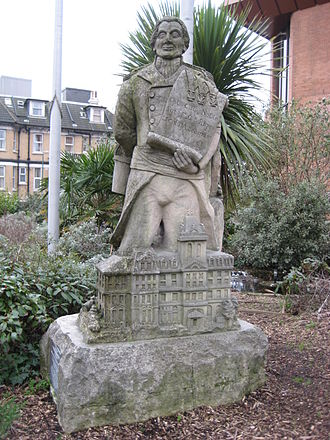 Lewis Tregonwell - A statue of Tregonwell in the town of Bournemouth which he founded.
