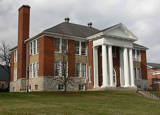 Lexington, Virginia - Lexington High School, designed by architect Charles M. Robinson and constructed in 1908, was typical of the modern public schools that cities built during the Progressive Era.