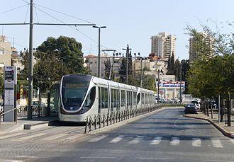 Shuafat - The Jerusalem Light Rail in Shuafat