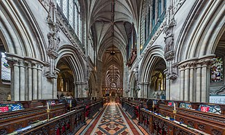 The choir of Lichfield Cathedral