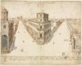 Lieven Cruyl - Eighteen Views of Rome- The Quattro Fontane Looking Toward Santa Maria Maggiore.tiff