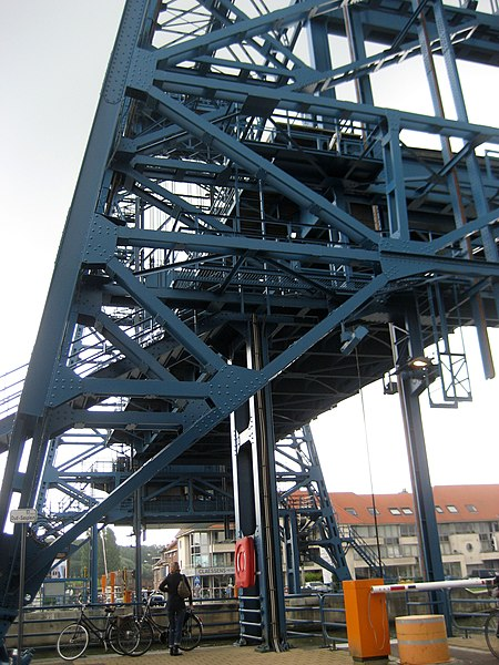 Lift bridge in Willebroek.