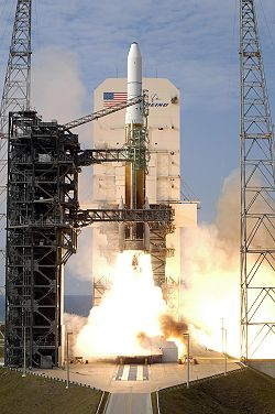 Liftoff for a Delta IV Medium+ (4,2) after its launch tower.jpg