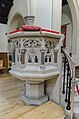 Lincoln, St Katherine's Cathedral church, Pulpit (32071463734).jpg