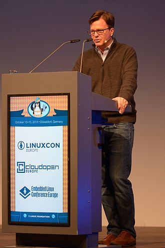 Linux Foundation - Jim Zemlin at the opening of the LinuxCon Europe 2014