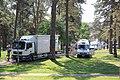 Lippujuhlan päivä 2013 Yleisradion lähetysautoja.JPG