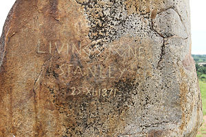 Livingstone–Stanley Monument - Monument engraving