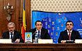 Liviu Dragnea, Victor Ponta si Marian Oprisan la Adunarea Generala a UNCJR, Palatul Parlamentului - 03.12.2013 (2) (11190446986).jpg