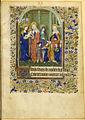 Livre d'heures à l'usage d'Angers - BNF NAL3211 p27 (Sainte Anne et les trois Marie).jpg