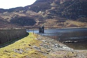 Llyn Cowlyd - Llyn Cowlyd reservoir dam