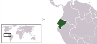 A map showing the location of Ecuador