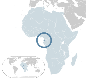 English: Map of Equatorial Guinea Español: Map...