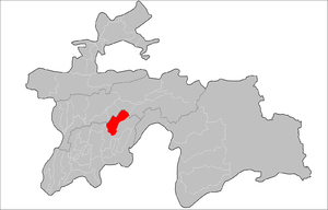 Baljuvon District Location in Tajikistan