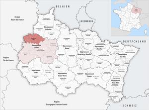 Arrondissement of Reims - Image: Locator map of Arrondissement Reims 2017