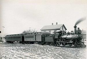 Eastern Railroad - Image: Locomotive at Wenham station, January 1892