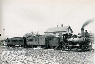Hamilton/Wenham station - An Essex Branch train at Wenham station in January 1892
