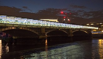 Blackfriars station - Newly renovated Blackfriars station from the Thames