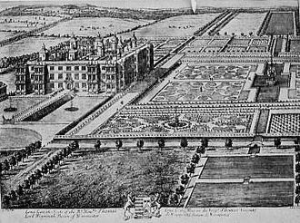 Longleat - Drawing of Longleat from the early 18th century by Leonard Knyff