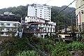 Looking towards the suspension footbridge at Lushan Hot Spring.jpg