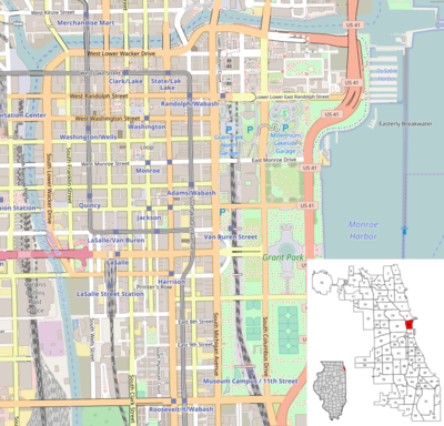 TemplateLocation map United States Chicago Loop Wikipedia