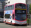 Lothian Buses bus Volvo B9TL Wright Eclipse Gemini 2 Harlequin livery Connect 22 route branding June 2010.jpg