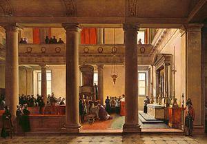 Jean-Louis Lefebvre de Cheverus - King Louis Philippe imposes the biretta on de Cheverus on 10 March 1836