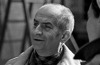 Louis de Funès - Louis de Funès on the set of L'homme orchestre, in 1970.