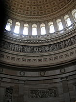 Low area of US Capitol dome and wall below from inside 1.JPG