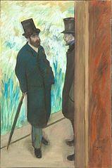 Ludovic Halevy et Albert Boulanger-Cavé dans les coulisses de l'Opéra