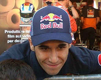 Luis Salom - Salom at the pitwalk of 2013 Catalan Grand Prix