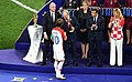 Luka Modrić receives the golden ball prize at the hands of Russian President Vladimir Putin.jpg