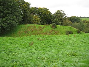Lydford Castle - Earthwork remains of the 11th-century castle