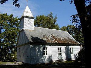 Mērsrags -  Wooden Lutheran church in Mērsrags