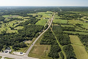 M-231 (Michigan highway) - Aerial view of M-231 in August 2015
