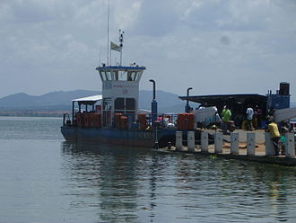 Musoma - Ferry M.V. Musoma in the port of Musoma town.