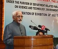 M. Hamid Ansari addressing the gathering at an event to inaugurate the 'Exhibition on Science & Technology Innovations', organised by the Parliamentary Standing Committee on Science & Technology.jpg