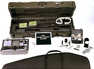 M24 Sniper Weapon System - M24 SWS system components (U.S. Army photo).