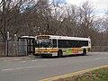 MBTA route 100 bus at Elm Street, April 2017.JPG