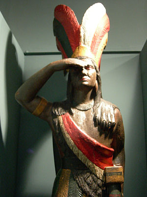 Cigar store Indian - 19th-century example from Seattle, Washington, USA