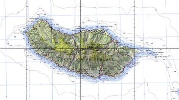 Topographic map of Madeira