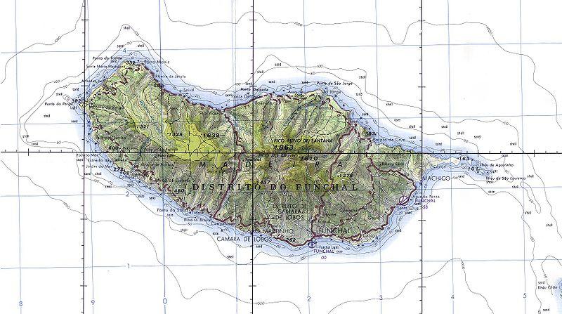 Karte von Madeira