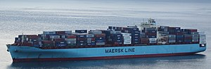 Maersk - Mærsk Kalamata in Seattle harbor