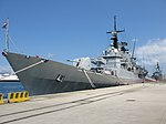 Maestrale class frigate Euro (F 575) - Harbour of Reggio Calabria - Italy - 8 July 2018.jpg