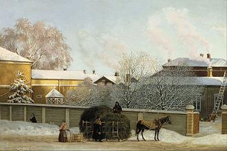 Magnus von Wright - Image: Magnus von Wright Annankatu on a Cold Winter Morning Google Art Project
